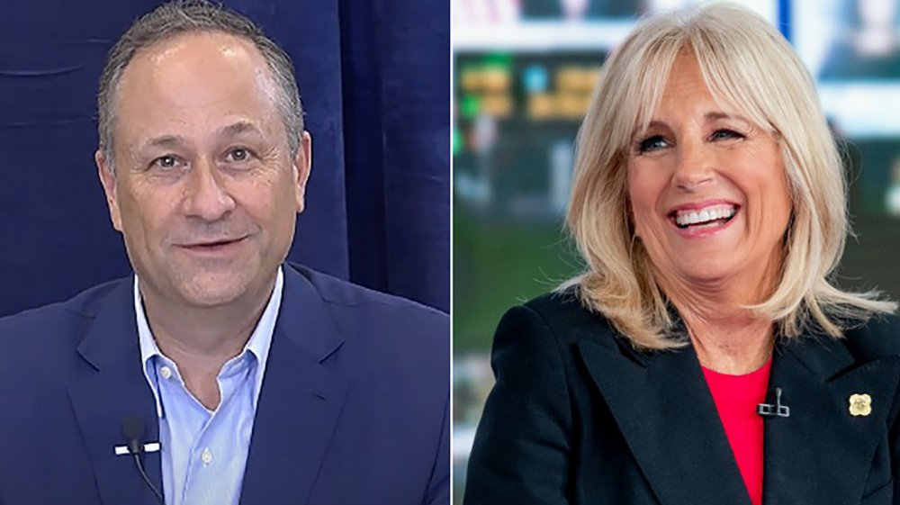 Douglas Emhoff and Jill Biden