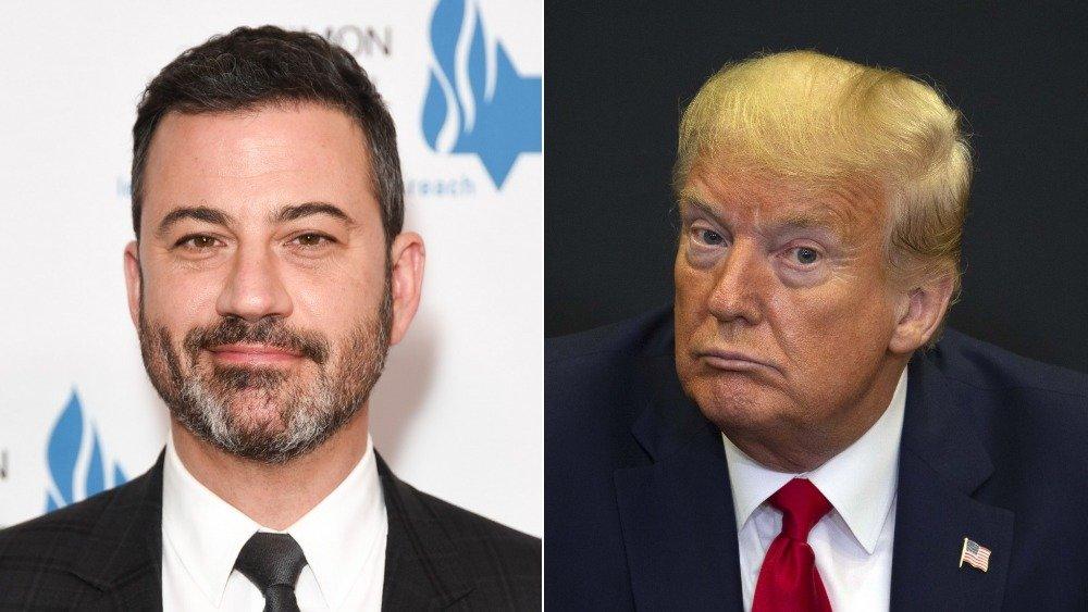Jimmy Kimmel and Donald Trump