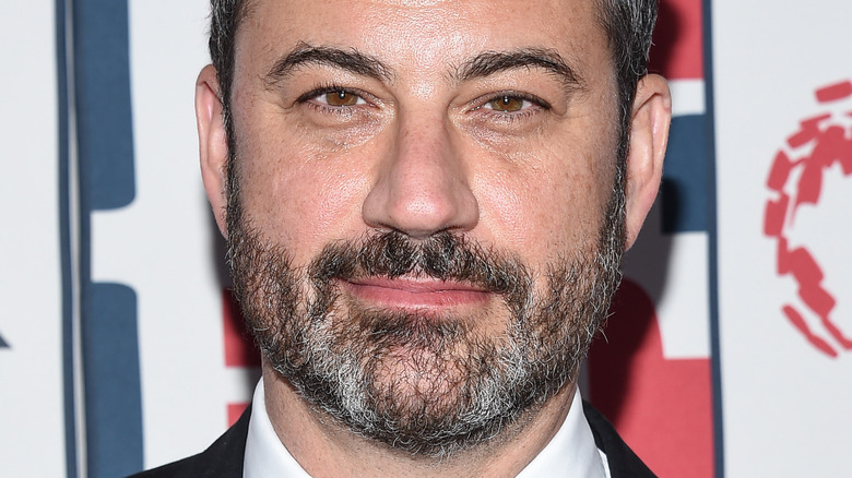 Jimmy Kimmel with slight smile at event