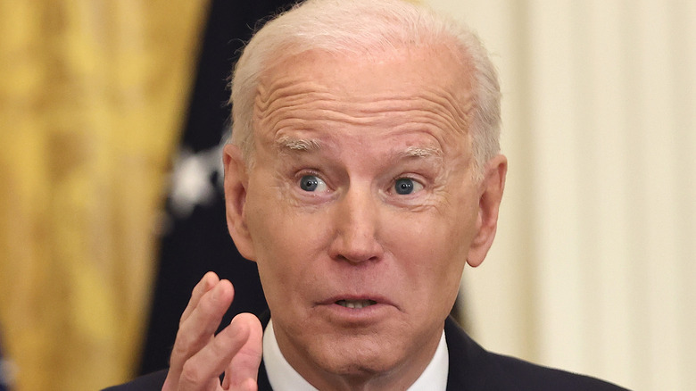 Joe Biden at a press conference