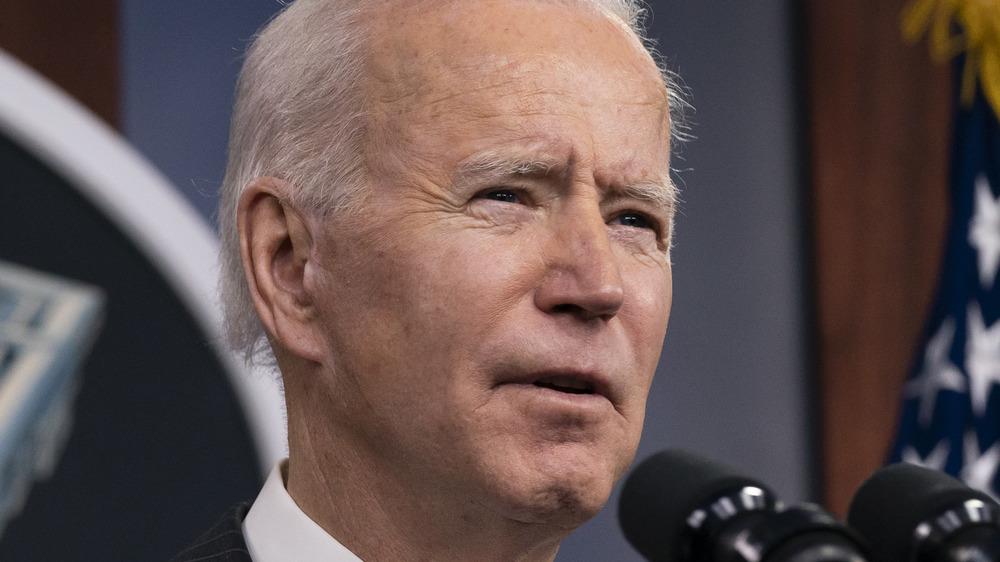 Joe Biden speaks at the Pentagon
