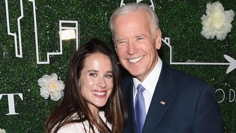 Ashley Biden poses with Joe Biden