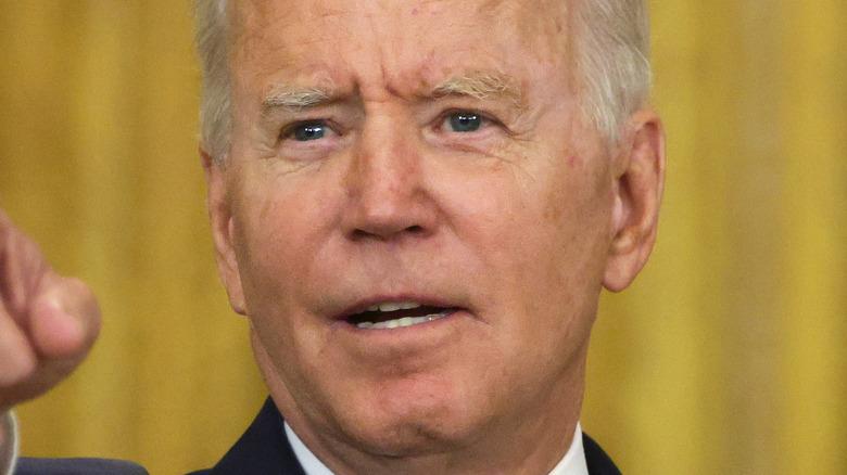 Joe Biden at a press conference in 2021