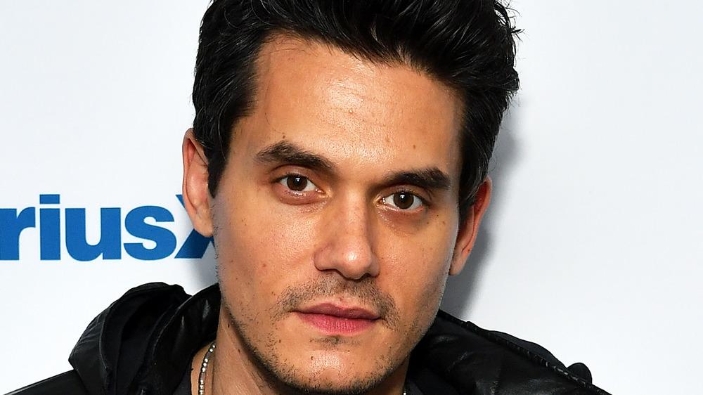 John Mayer looking at camera
