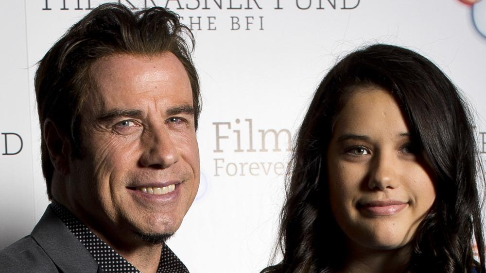 John Travolta and Ella Travolta on the red carpet
