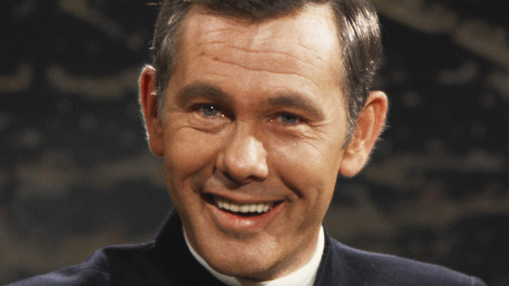 Johnny Carson smiling