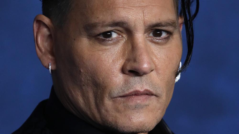Johnny Depp serious