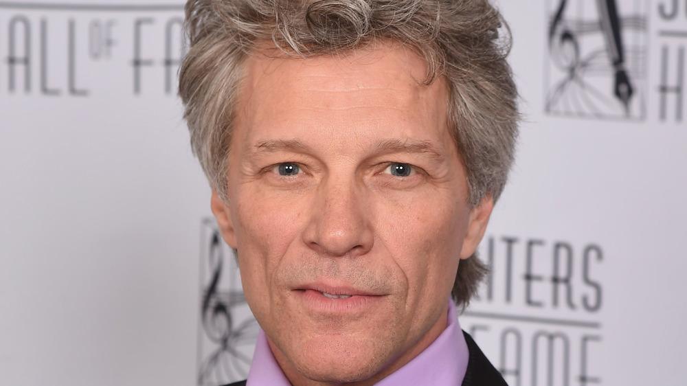 Jon Bon Jovi staring at camera