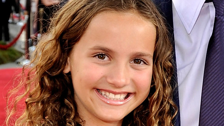 Young Maude Apatow smiling