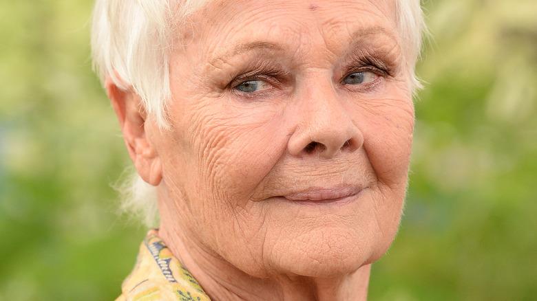 Judi Dench slight smile