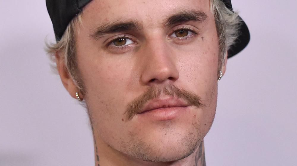 Justin Bieber staring at camera