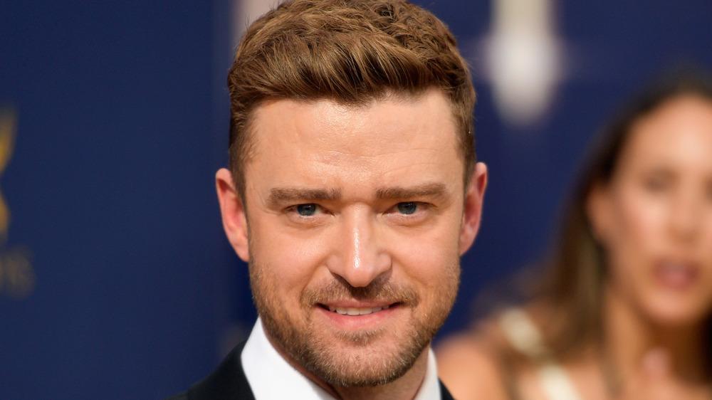 Justin Timberlake grimacing