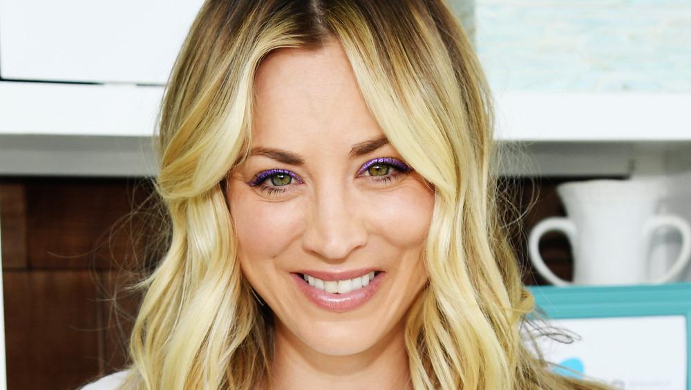 Kaley Cuoco smiling