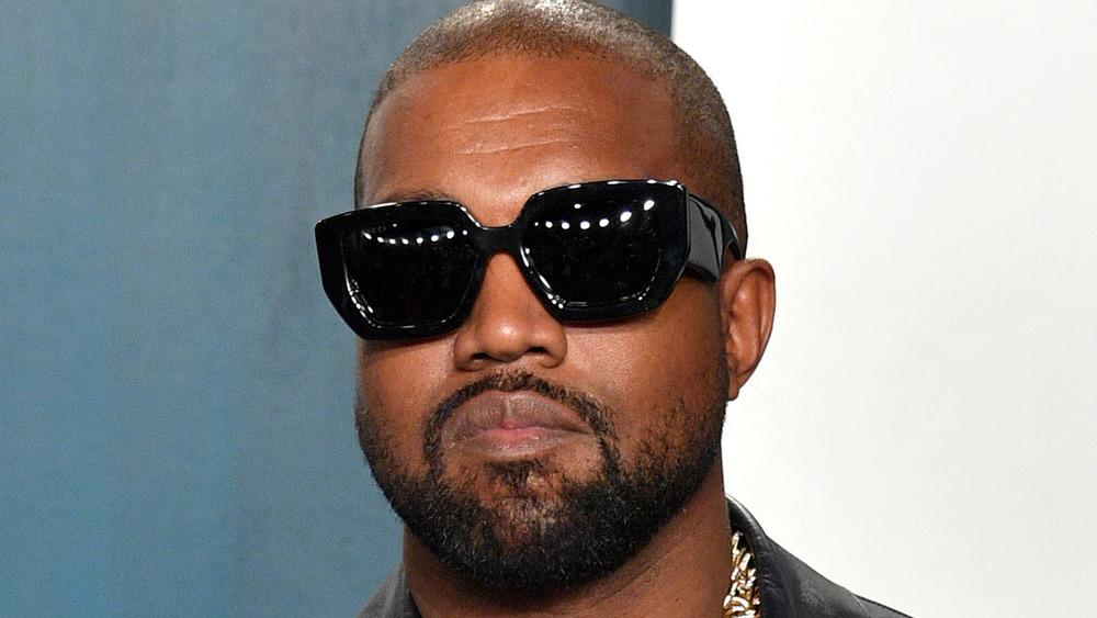 Kanye West on red carpet