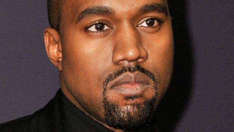 Kanye West staring
