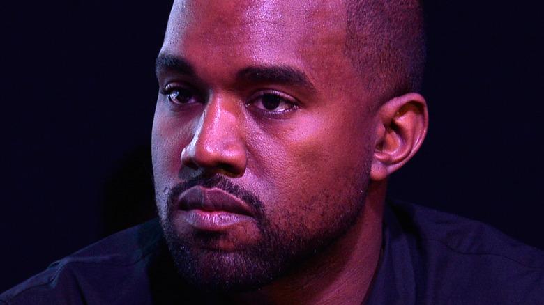 Kanye West looking away