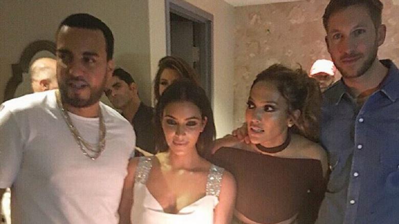 French Montana, Kim Kardashian, Jennifer Lopez, and Calvin Harris