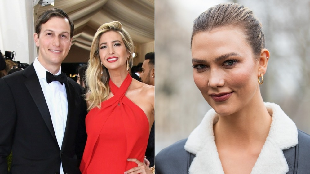 Jared Kushner and Ivanka Trump; Karlie Kloss posing