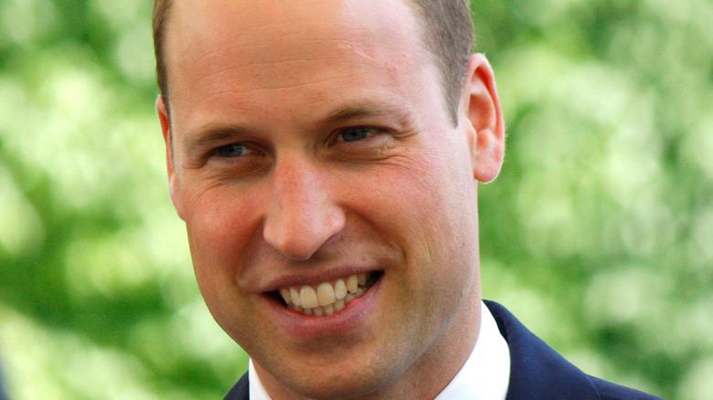 Prince William, smiling