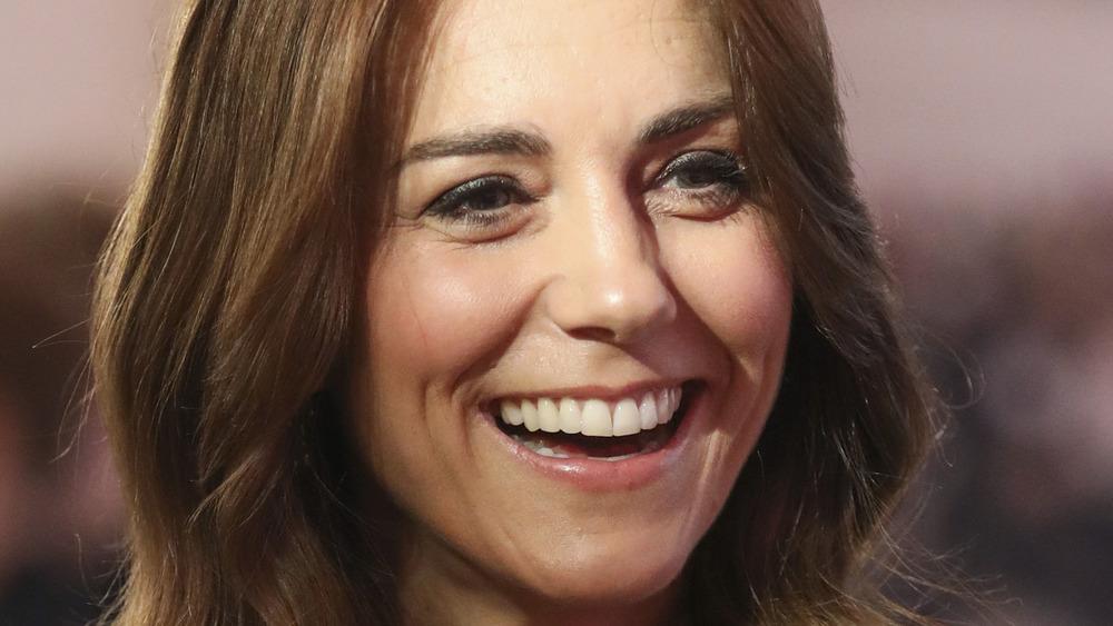 Kate Middleton grinning