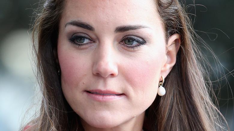 Kate Middleton staring