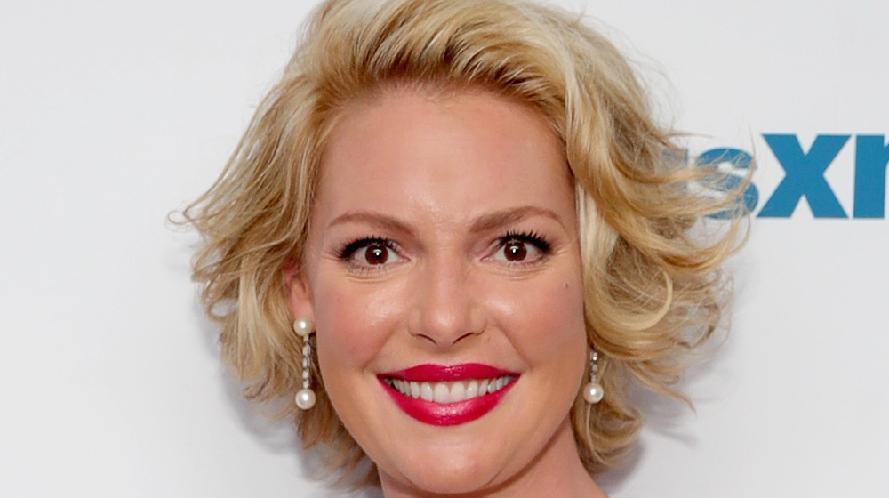 Katherine Heigl smiling on the red carpet