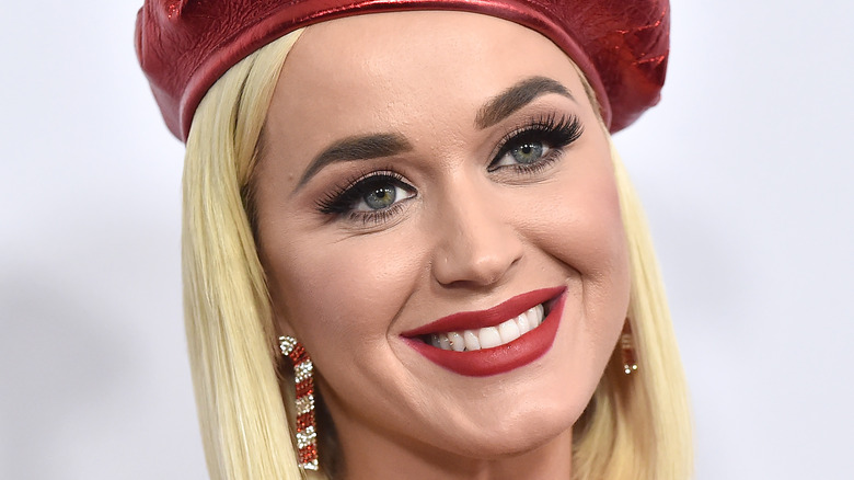 Katy Perry smiling at a red carpet event