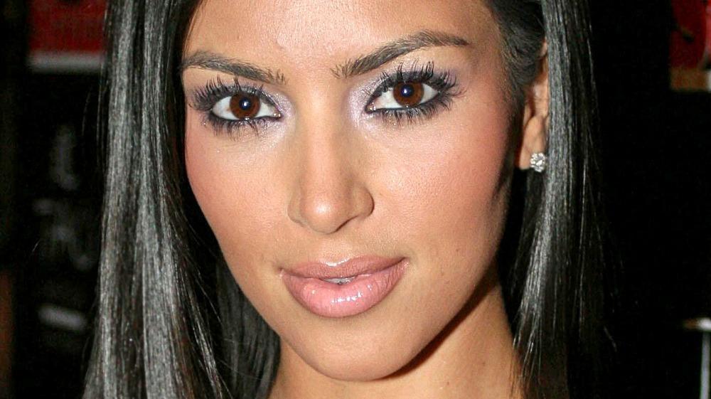 Kim Kardashian on the red carpet in 2007
