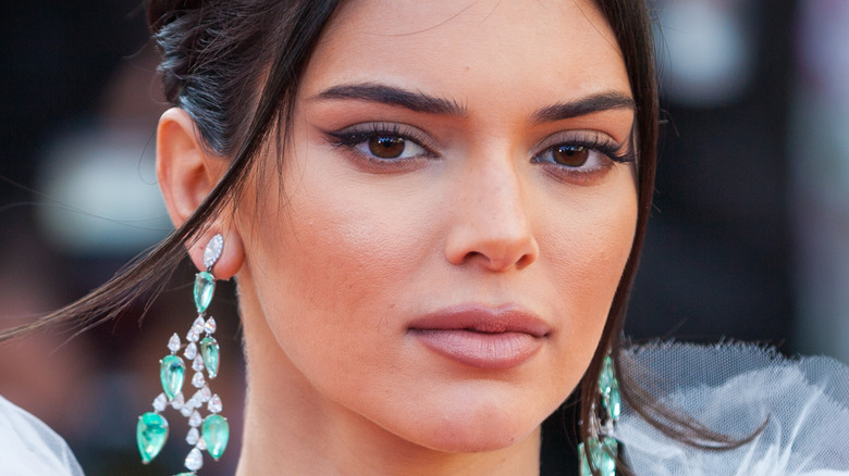 Kendall Jenner with pensive look