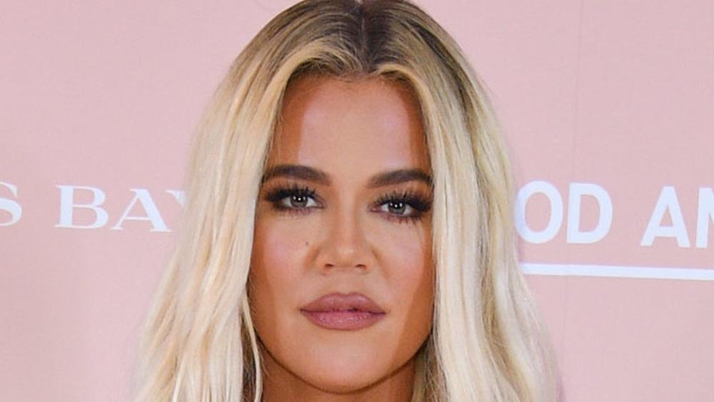 Khloe Kardashian neutral expression
