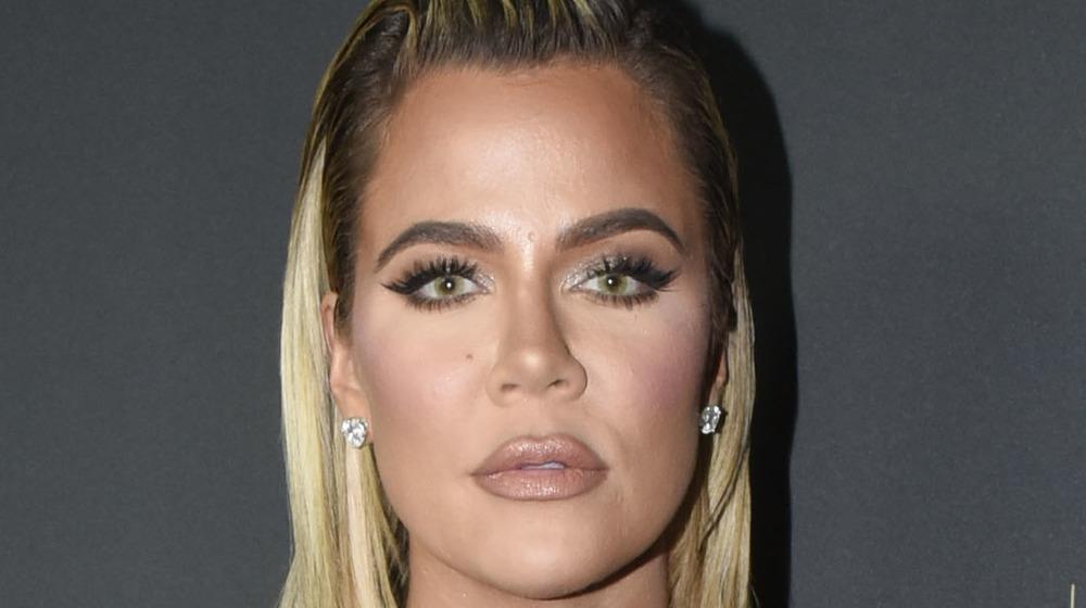 Khloe Kardashian poses seriously