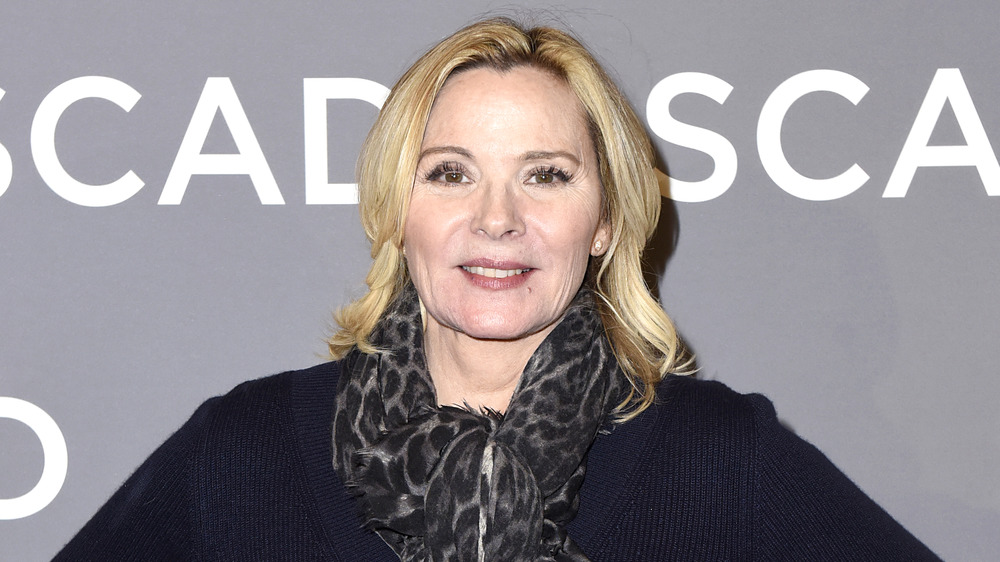 Kim Cattrall on a red carpet