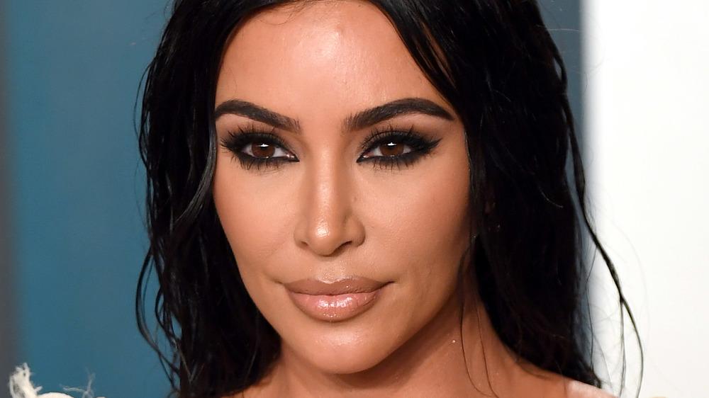 Kim Kardashian posing at an event