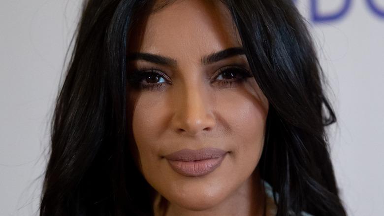 Kim Kardashian hair in eyes