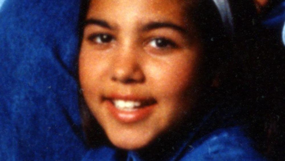 Kourtney Kardashian as a child in denim