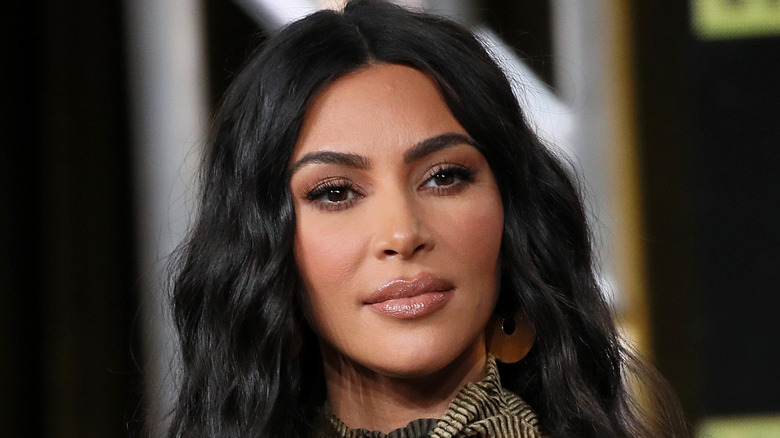 Kim Kardashian West of 'The Justice Project' speaks onstage during the 2020 Winter TCA Tour Day 12