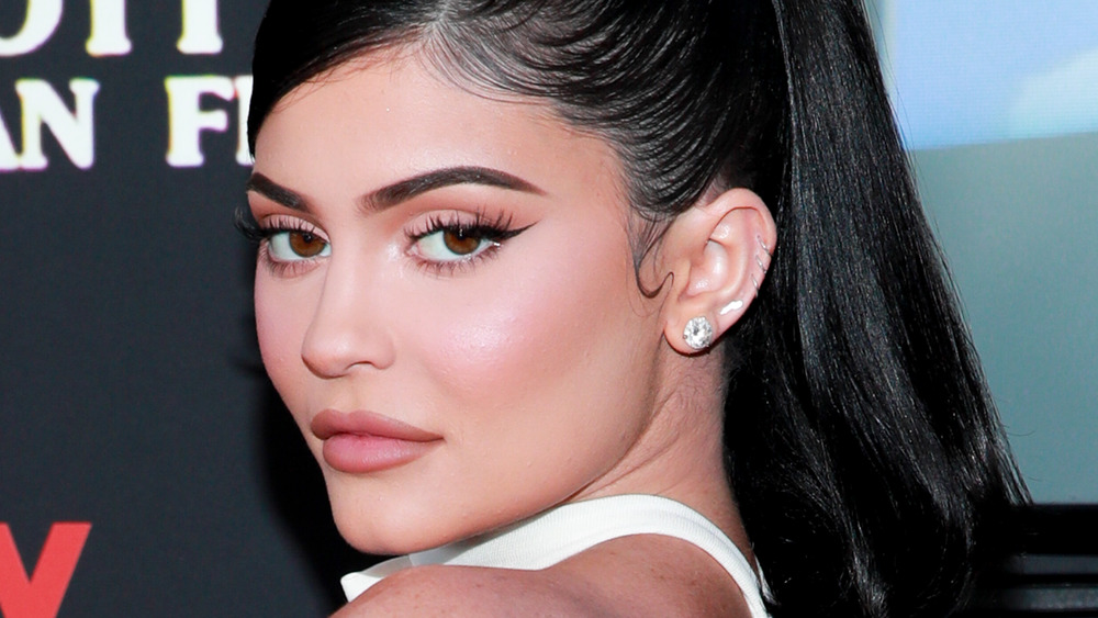 """Kylie Jenner attends the premiere of Travis Scott's """"Look Mom, I Can Fly"""" in 2019"""