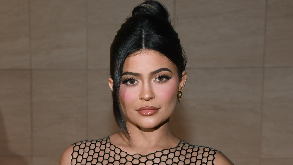 Kylie Jenner smiling slightly