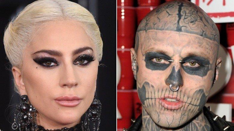 Lady Gaga and Rick 'Zombie Boy' Genest
