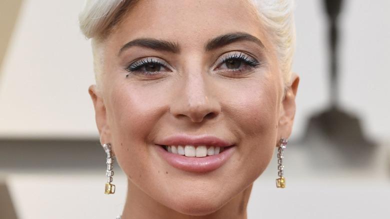 Lady Gaga drop earrings
