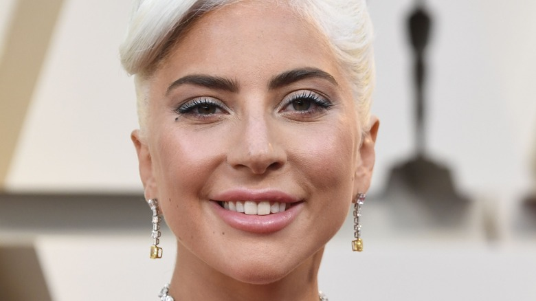 Lady Gaga smiling at an event