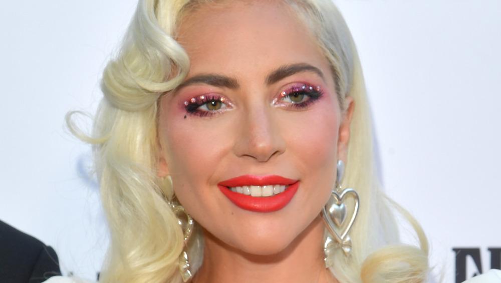 Lady Gaga posing at an event