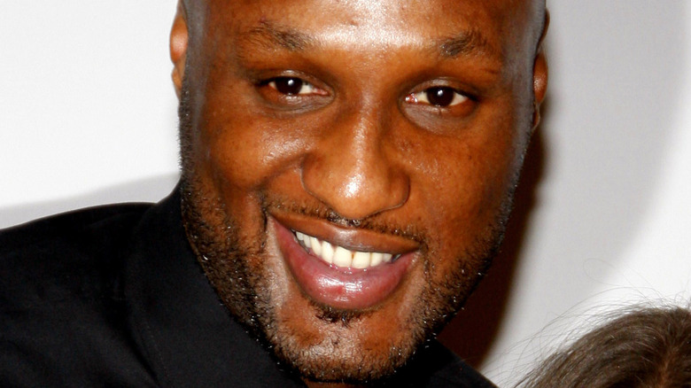 Lamar Odom smiling at camera