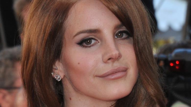Lana Del Rey gazing in front