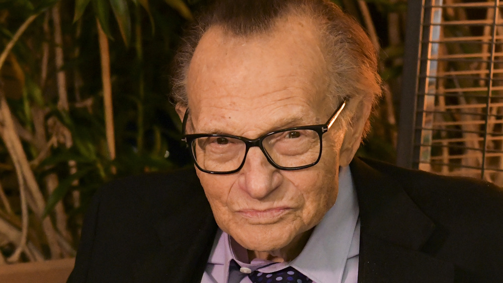 Larry King serious face