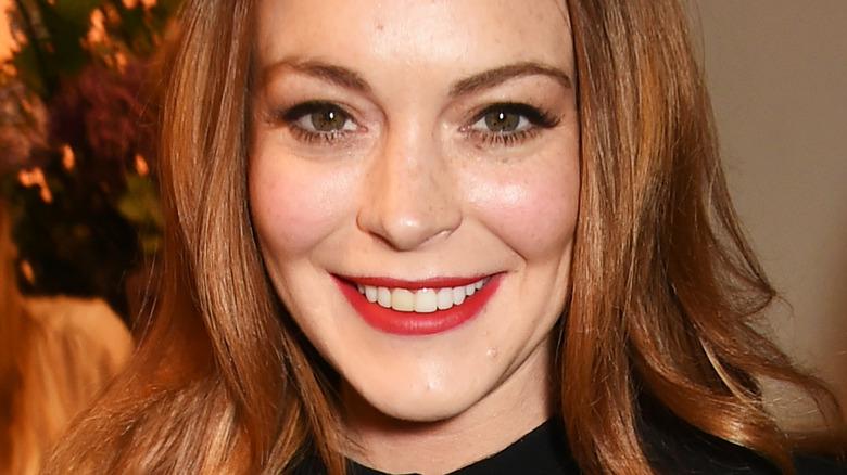 Lindsay Lohan, posing