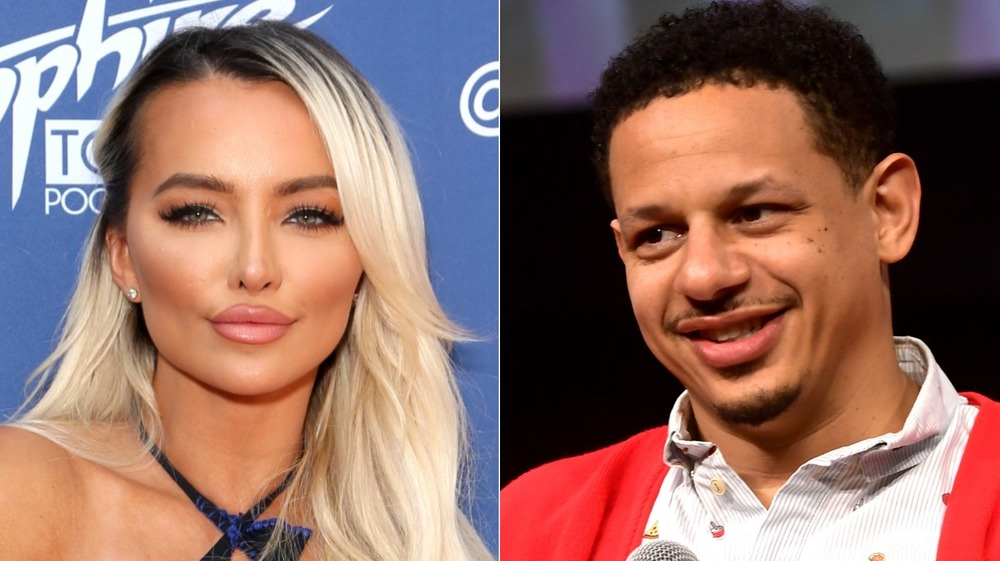 Lindsey Pelas and Eric Andre smiling