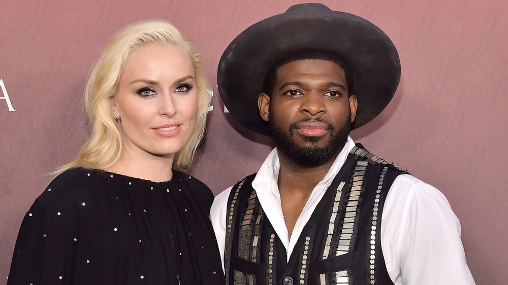 Lindsey Vonn and P.K. Subban on the red carpet