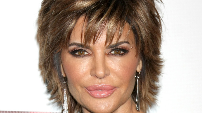 Lisa Rinna poses at an event