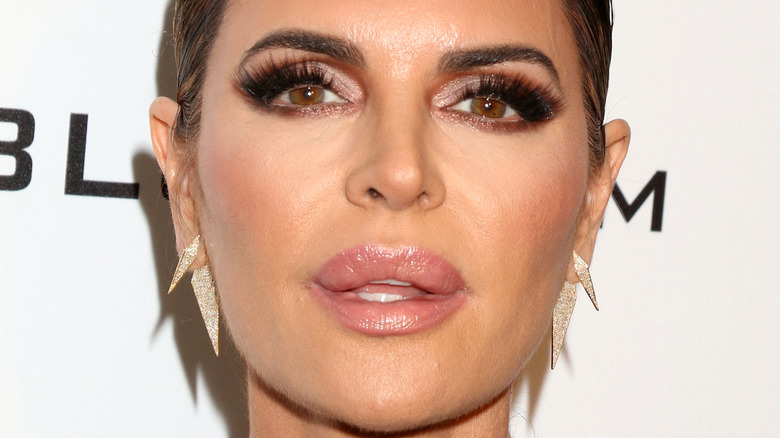 Lisa Rinna pouting in front of the camera